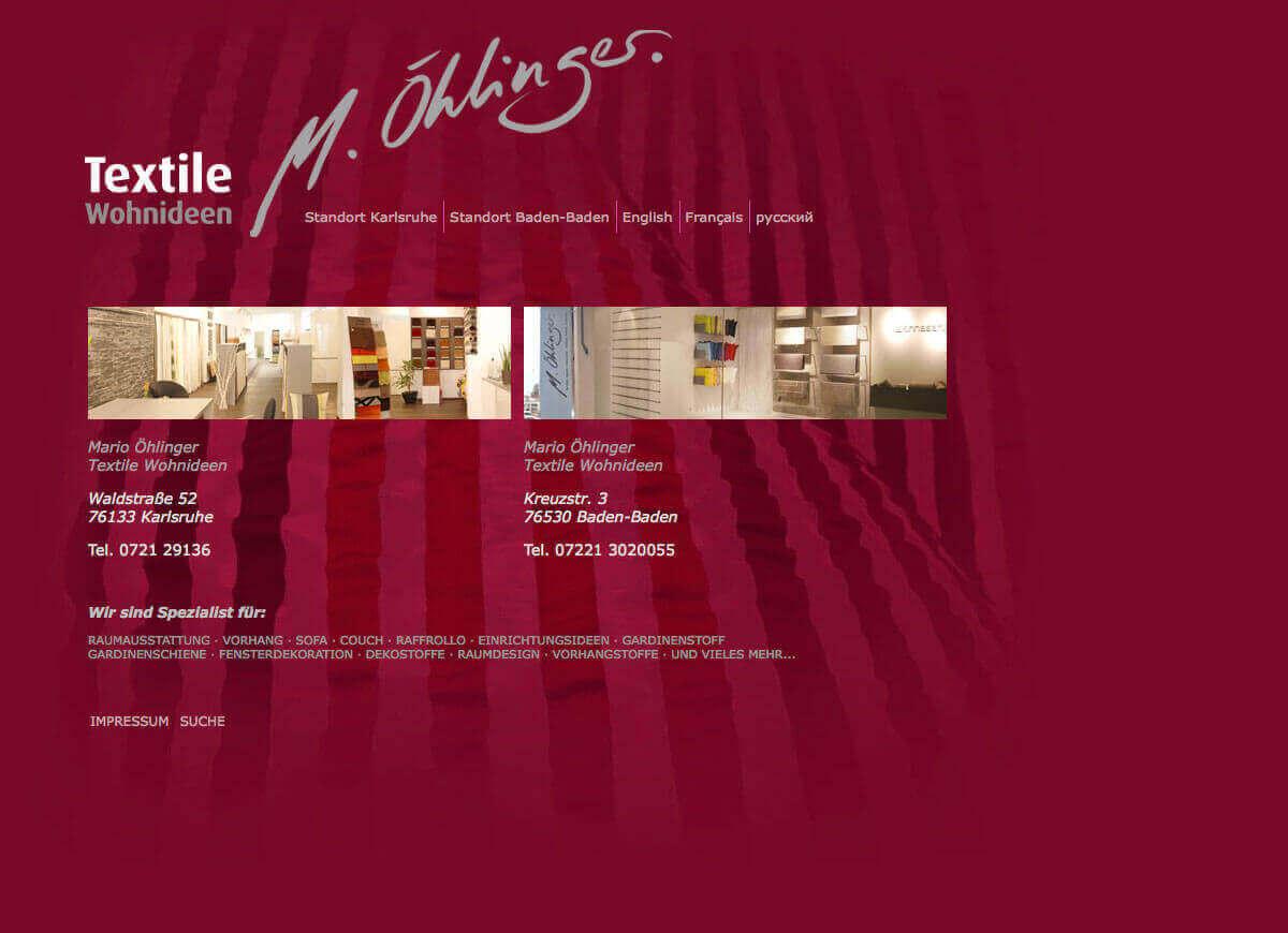 Textile Wohnideen   M. Öhlinger   Startseite Mit Sprach  Und Filialauswahl
