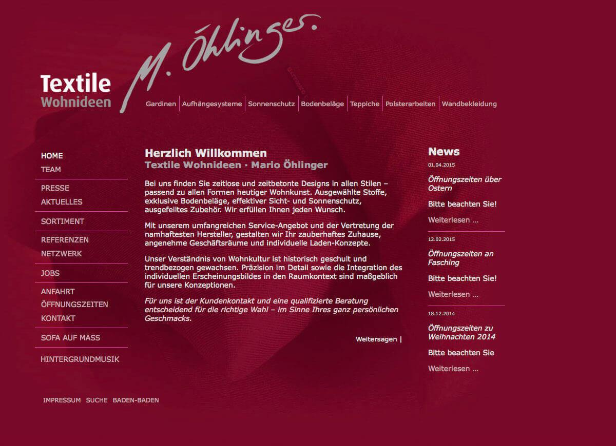 Textile Wohnideen   M. Öhlinger   Startseite Für Karlsruhe